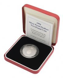 1994 Silver Proof Piedfort £2 Bank of England for sale